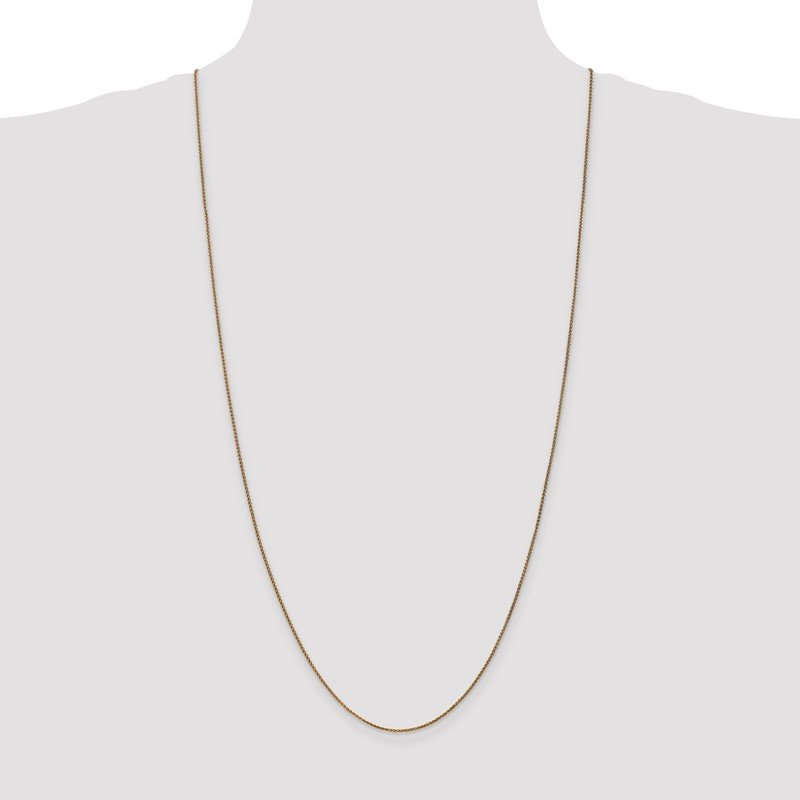 Quality Gold 14k 1.2mm Diamond-cut Spiga Chain Anklet