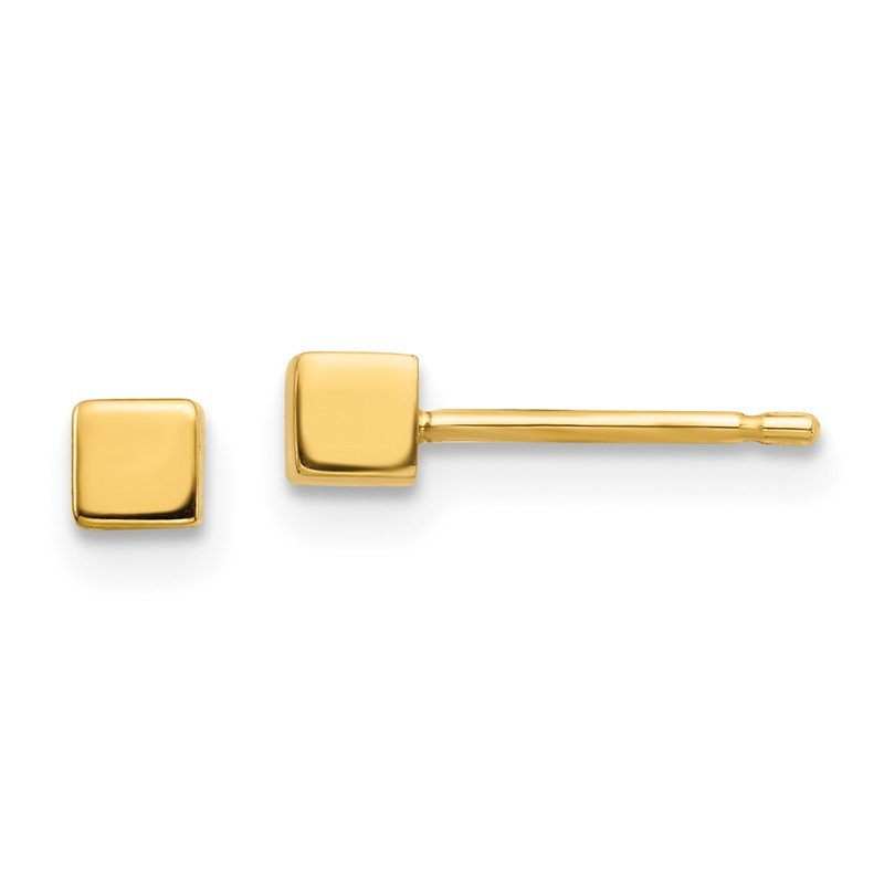 Quality Gold 14K Square Stud Earrings