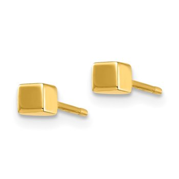 14K Square Stud Earrings