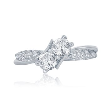 The Entwined Two Stone Ring