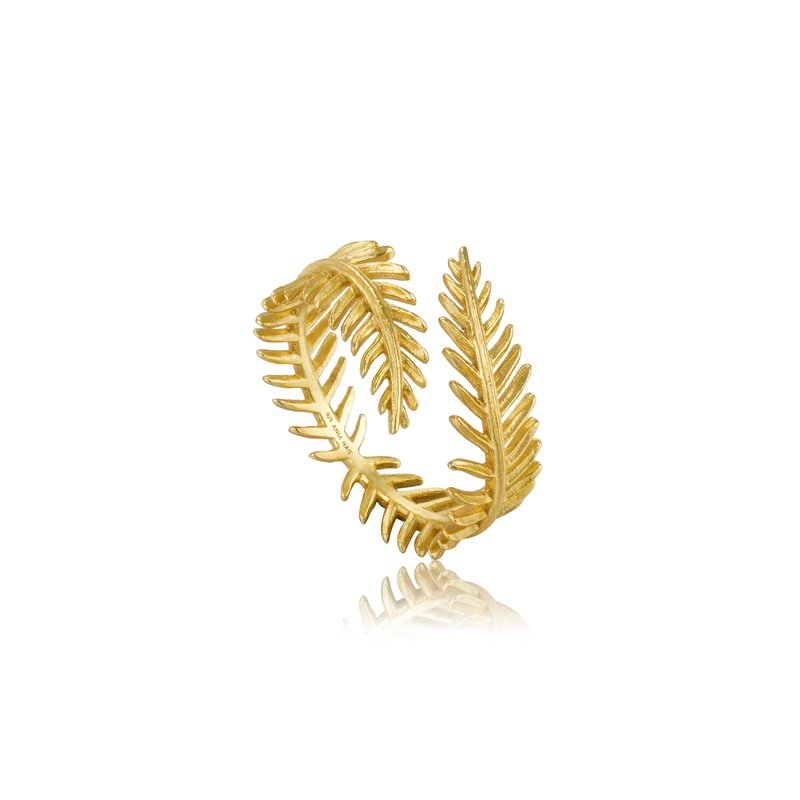Ania Haie Palm Leaf Adjustable Ring