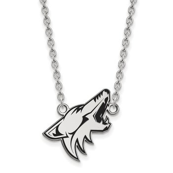Sterling Silver Phoenix Coyotes NHL Necklace