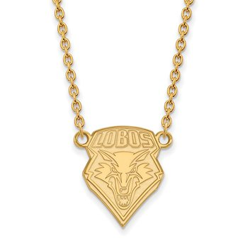 Gold-Plated Sterling Silver University of New Mexico NCAA Necklace