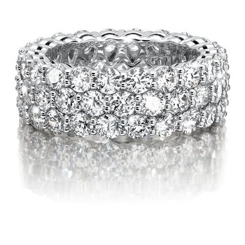 CARO 74 Eternity Band  in 14K White Gold (Size 7.0)