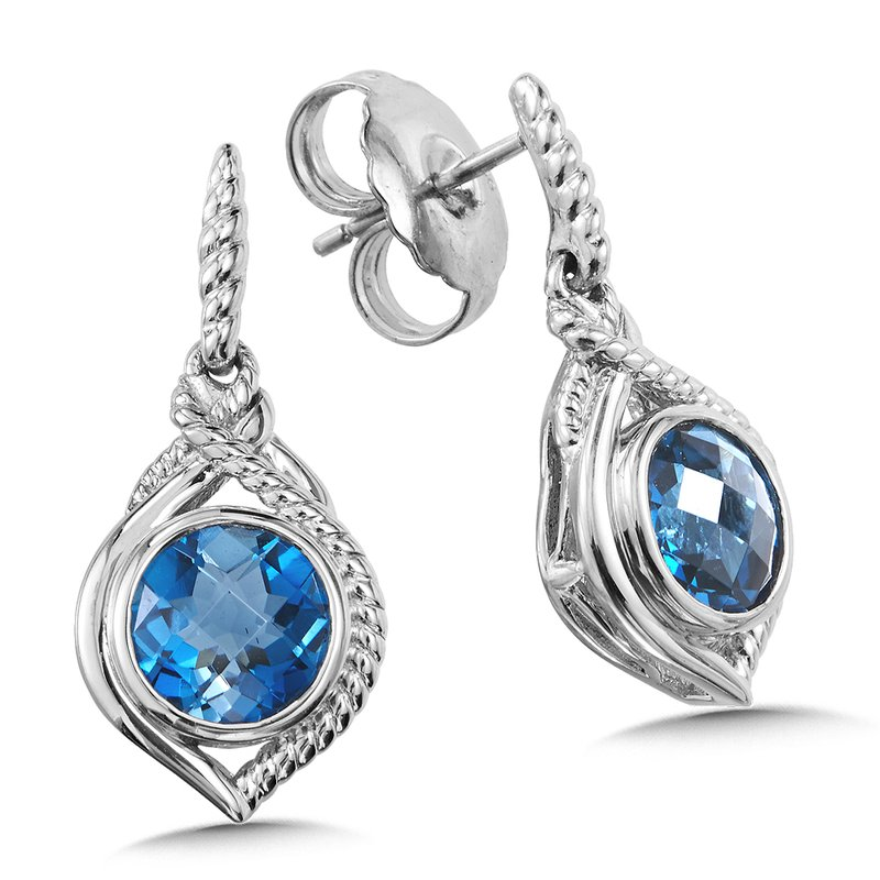 Sterling Silver London Blue Topaz Post Earrings