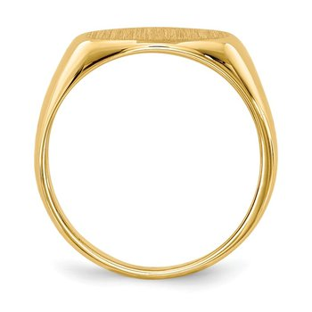 14k 6.5x11.0mm Open Back Child's Signet Ring