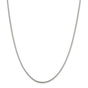 Sterling Silver 2mm Round Box Chain