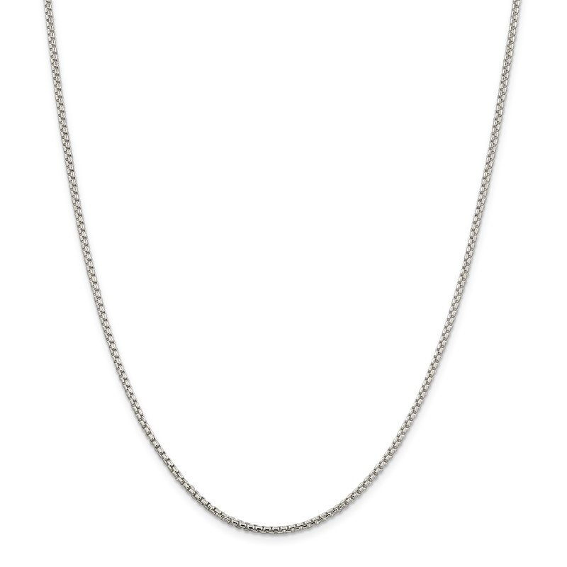 Quality Gold Sterling Silver 2mm Round Box Chain