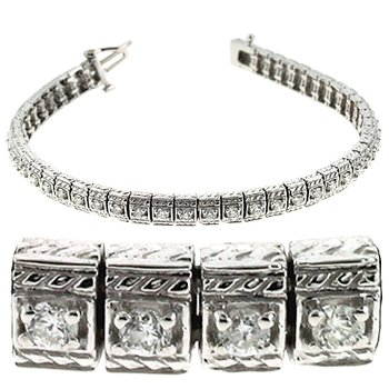 White Gold Antique Bracelet