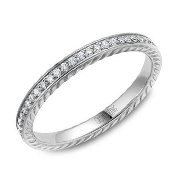 CrownRing Men's Wedding Band WB-029RD25W