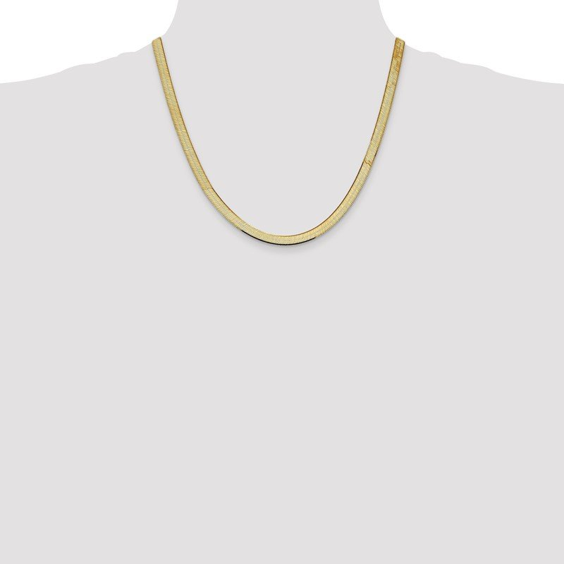 Quality Gold 10k 5.5mm Silky Herringbone Chain