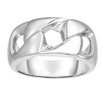 Silver Curb Chain Inspired Ring