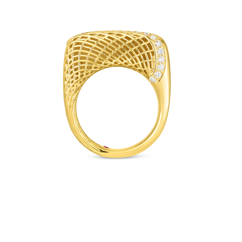 Roberto Coin  #28489 Of 18Kt Gold Ring With Diamonds