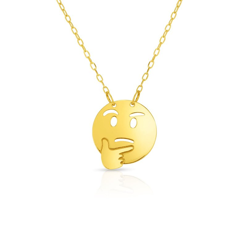 Royal Chain 14K Gold Thinking Roymoji Necklace