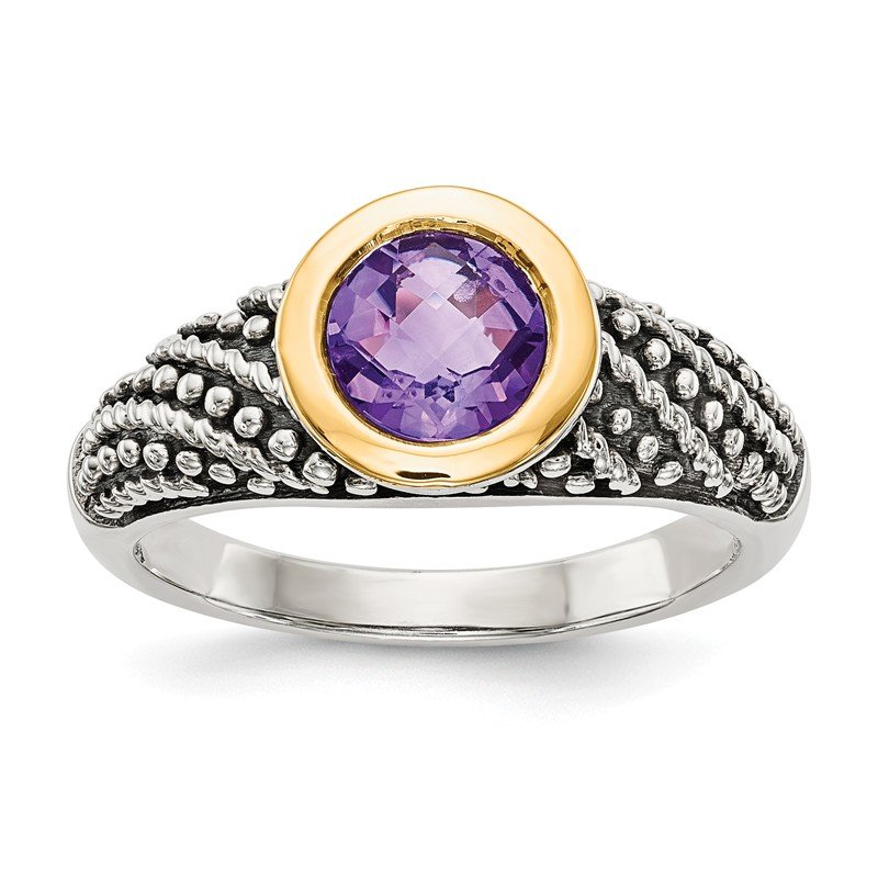 Shey Couture Sterling Silver w/14k Amethyst Ring