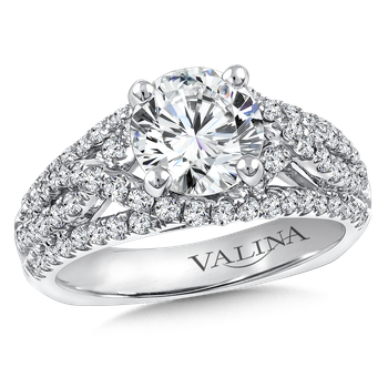 Diamond Engagement Ring Mounting in 14K White Gold (.81 ct. tw.)