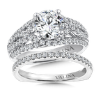 Valina Diamond Engagement Ring Mounting in 14K White Gold (.81 ct. tw.)