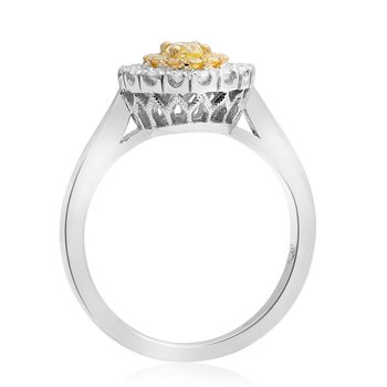 Two Tone Oval Diamond Ring
