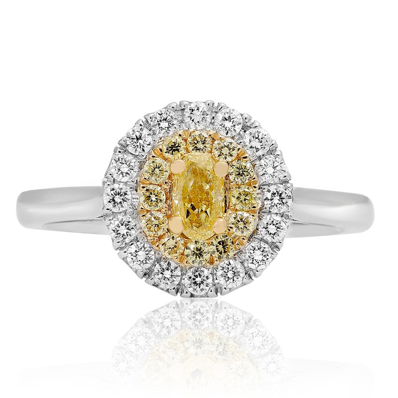 Roman & Jules Two Tone Oval Diamond Ring
