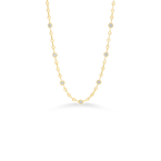 Roberto Coin 18Kt Gold Necklace With 7 Round Diamond Stations