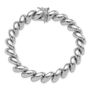 Sterling Silver Rhodium-plated San Marco Bracelet