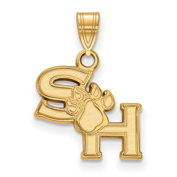 Gold-Plated Sterling Silver Sam Houston State University NCAA Pendant