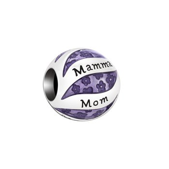 Her World Charm, Mom In Many Languages, Purple
