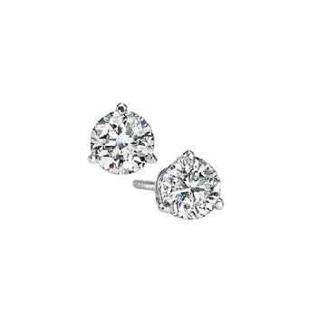 Martini Diamond Stud Earrings in 14K White Gold (1/10 ct. tw.) SI3 - G/H
