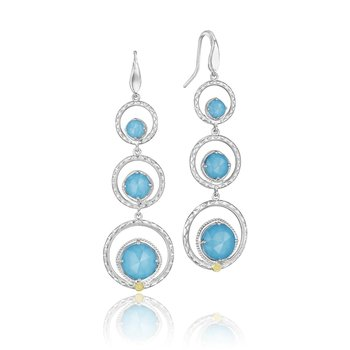 Skipping Stones Earrings featuring Neo-Turquoise