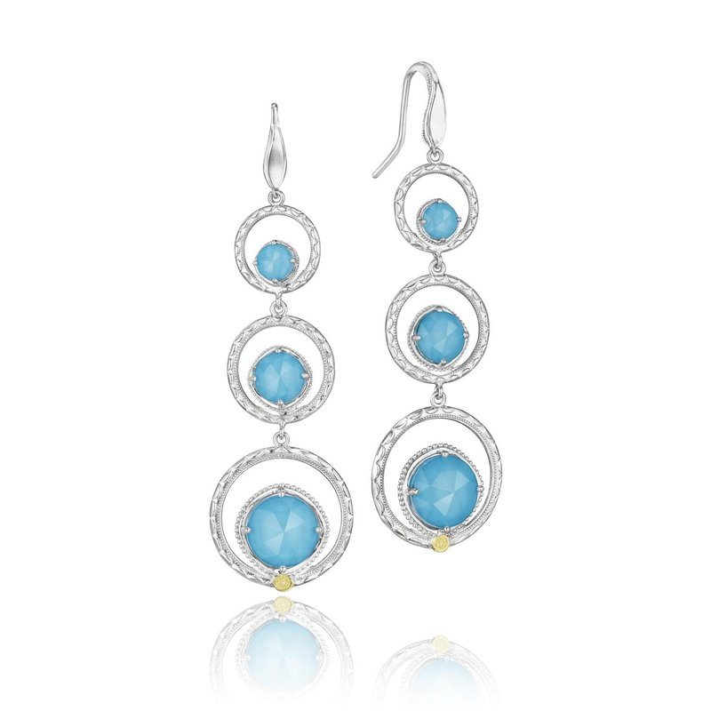Tacori Fashion Skipping Stones Earrings featuring Neo-Turquoise