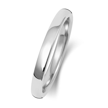 9Ct White Gold 2mm Soft Court Wedding Ring