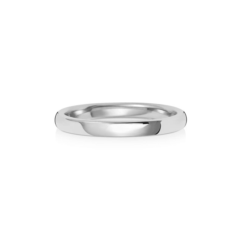 Treasure 9Ct White Gold 2mm Soft Court Wedding Ring
