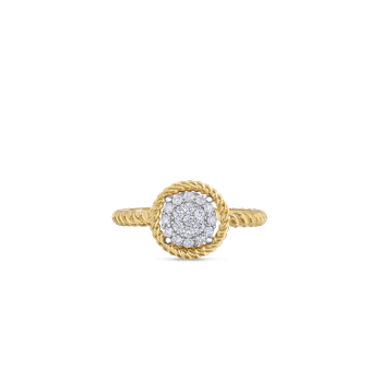 18Kt Gold Pave Circle Ring