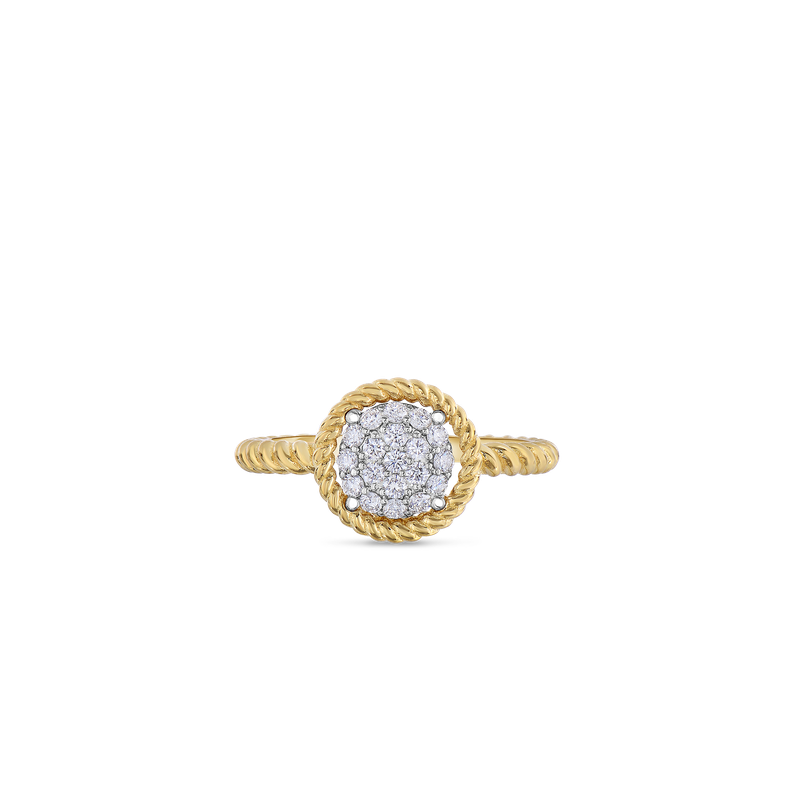 Roberto Coin 18KT GOLD PAVE CIRCLE RING