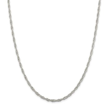 Sterling Silver 2.75mm Loose Rope Chain
