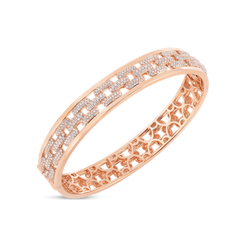 Bangle With Diamonds &Ndash; 18K Rose Gold