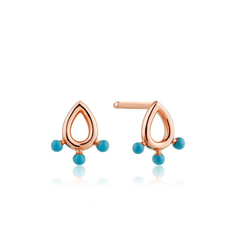 Ania Haie Dotted Raindrop Stud Earrings