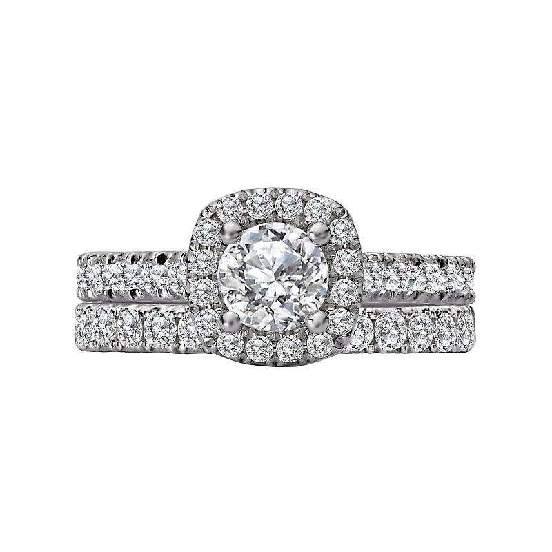 LaVie Halo Diamond Semi-Mount Engagement Ring