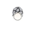 Roberto Coin 18Kt Gold Black And White Diamond Knot Ring