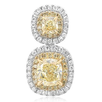 Stacked Double Halo Diamond Earrings