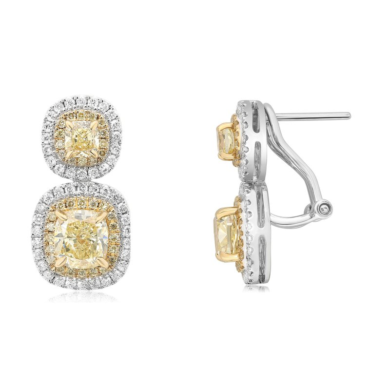 Roman & Jules Stacked Double Halo Diamond Earrings