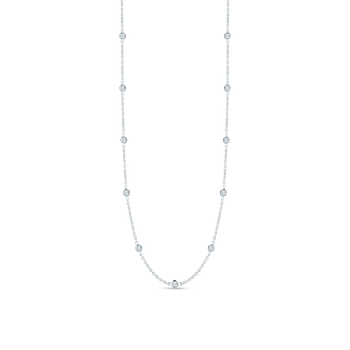18Kt Gold 21 Station Diamond Necklace