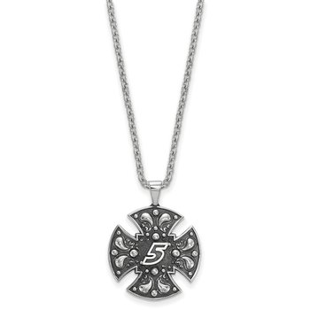 Sterling Silver 5 Kasey Kahne NASCAR Necklace