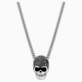 Taddeo Skull Pendant, Black, Mixed metal finish