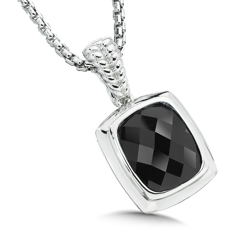Colore SG Sterling Silver and Onyx Pendant