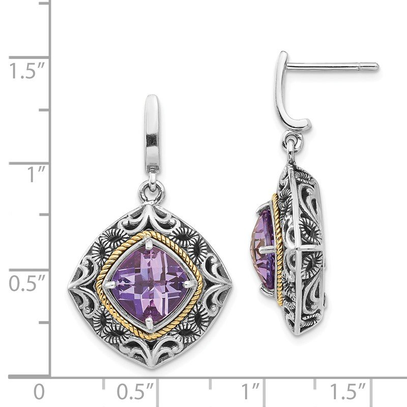 Shey Couture Sterling Silver w/14k Amethyst Earrings