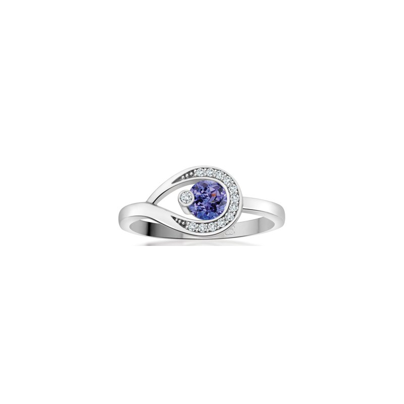 Diamond Wishes Tanzanite Ladies Ring