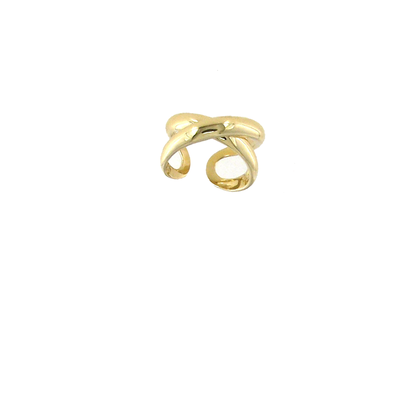 Roberto Coin 18KT GOLD WIDE CROSSOVER X RING