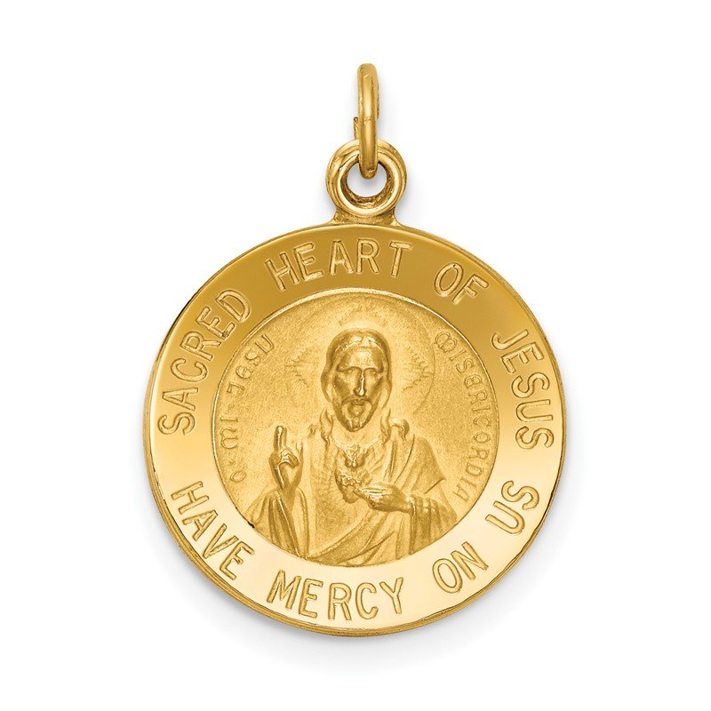 Quality Gold 14k Sacred Heart of Jesus Medal Charm