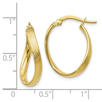 Leslie's 10K Polished Hinged Hoop Earrings